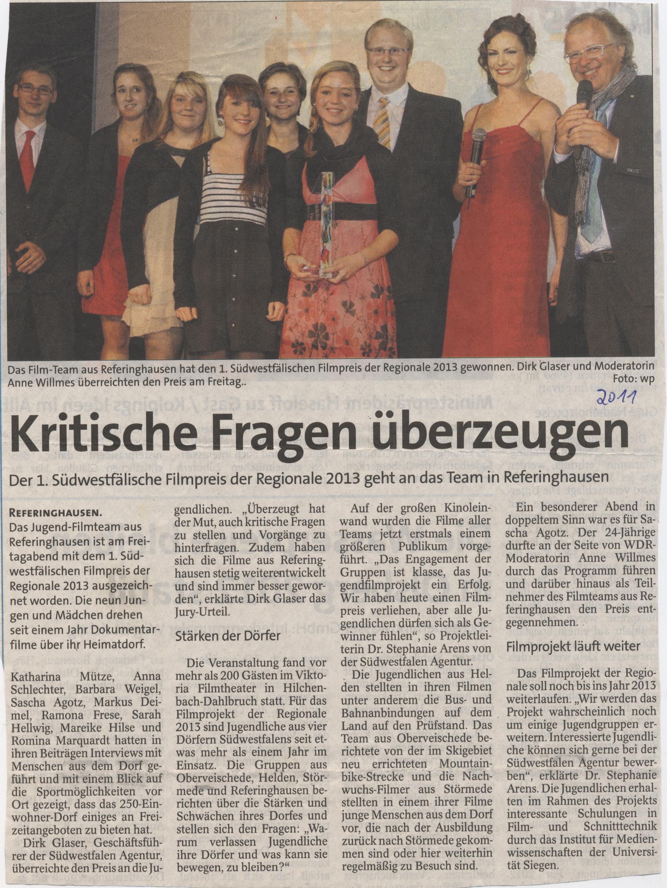 1. Südwestfalische Filmpreis