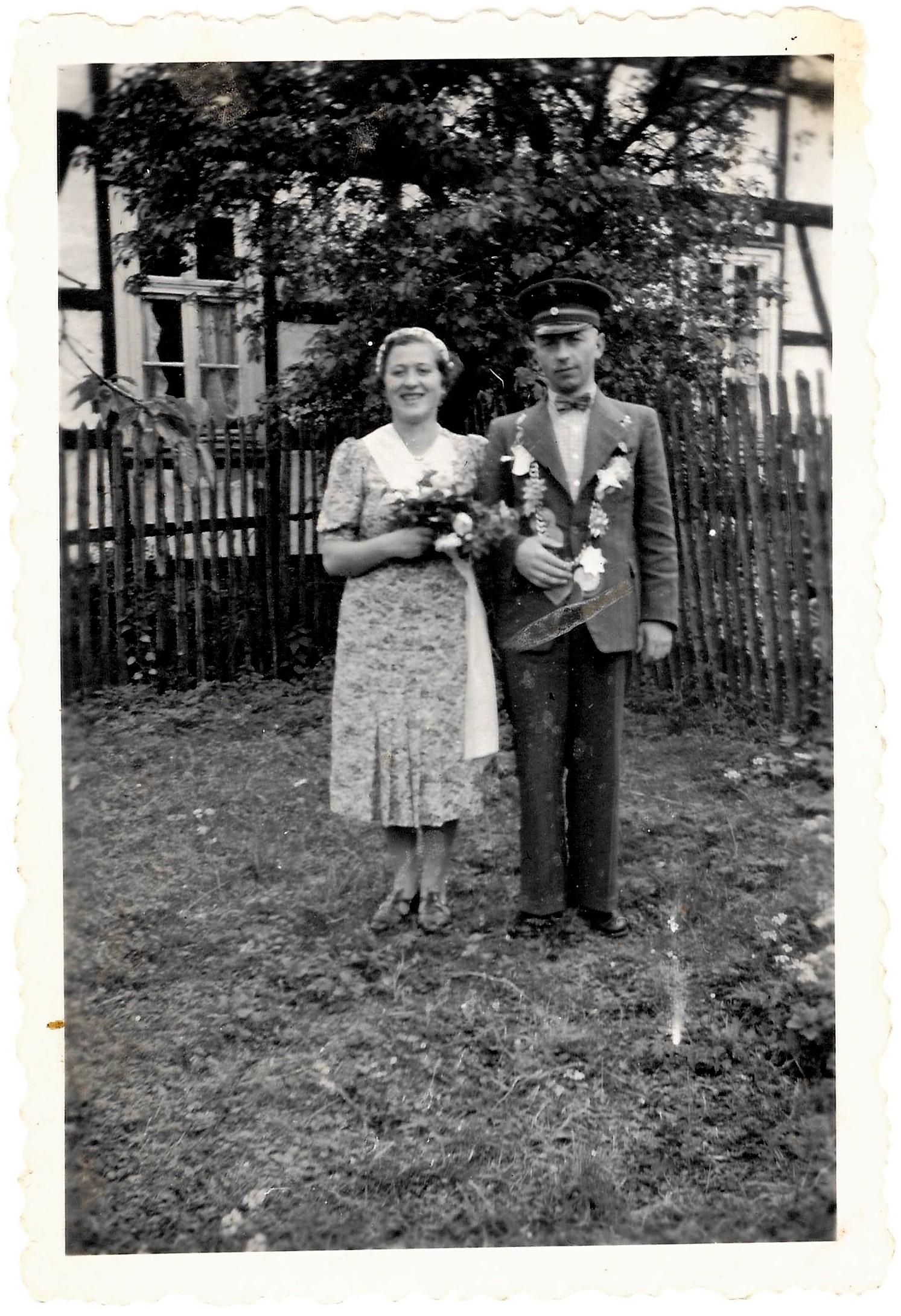 1939 Königspaar Gotffried Aufmhof und Käthe Decker