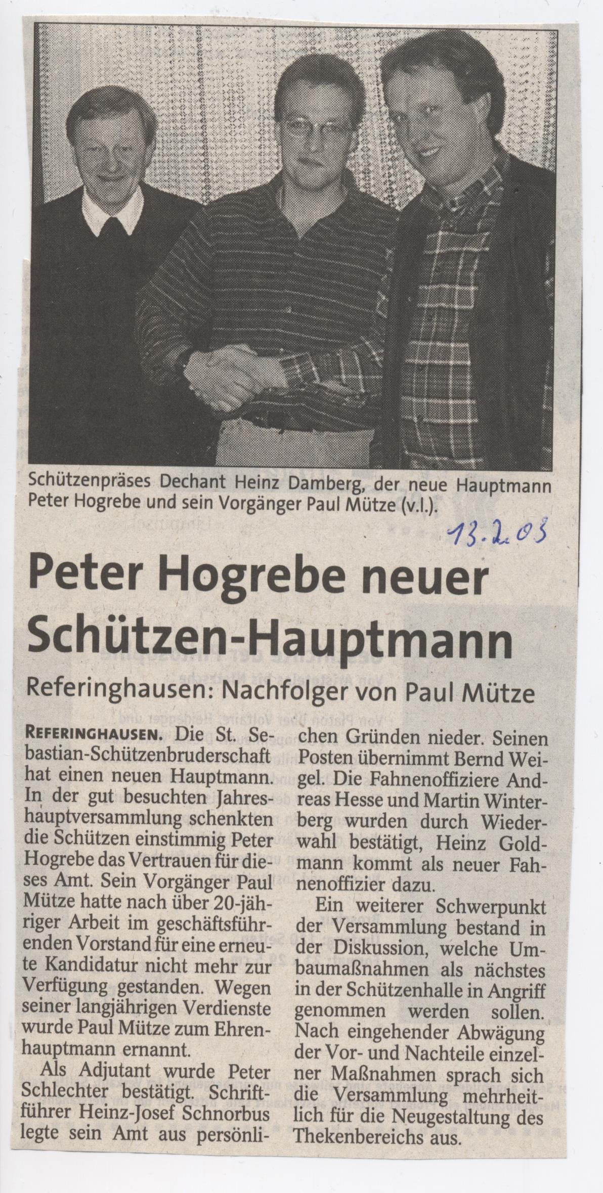Peter Hogrebe als Hauptmann