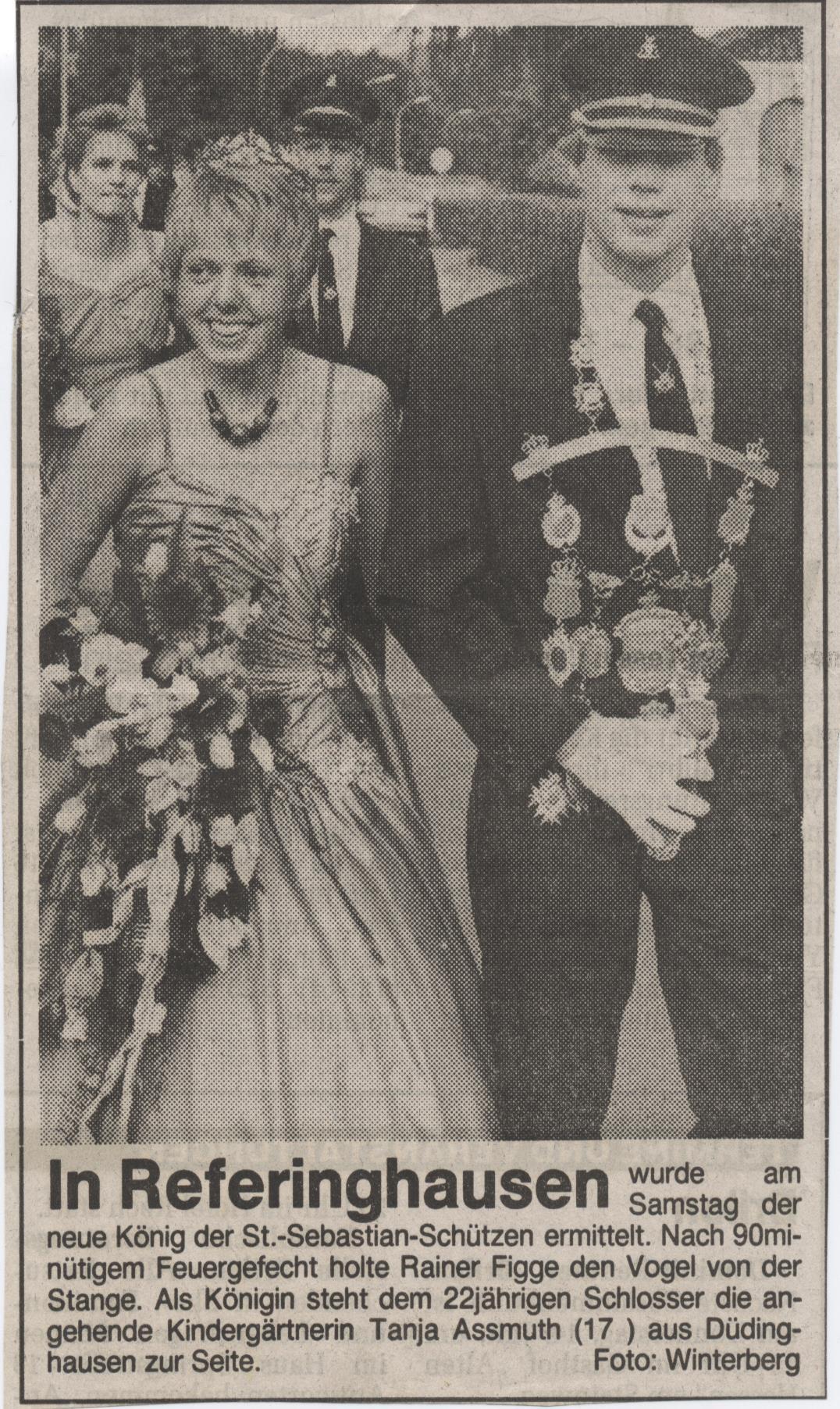 Schützenkönigspaar Rainer und Tanja
