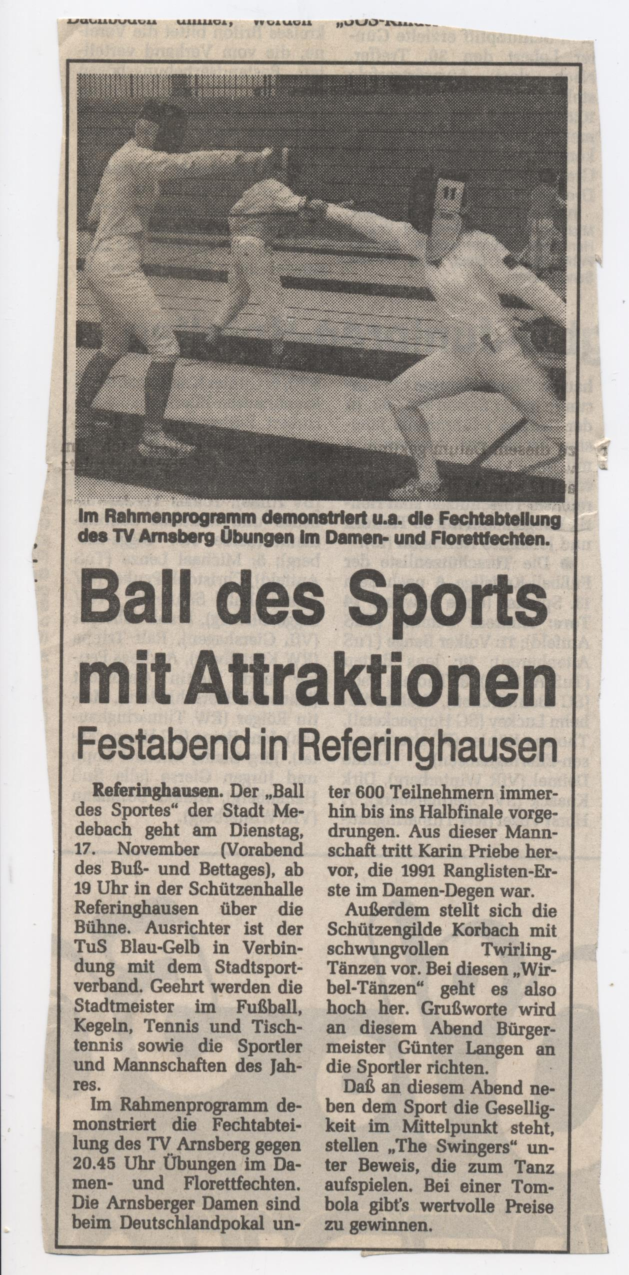Ball des Sport mit Attraktion