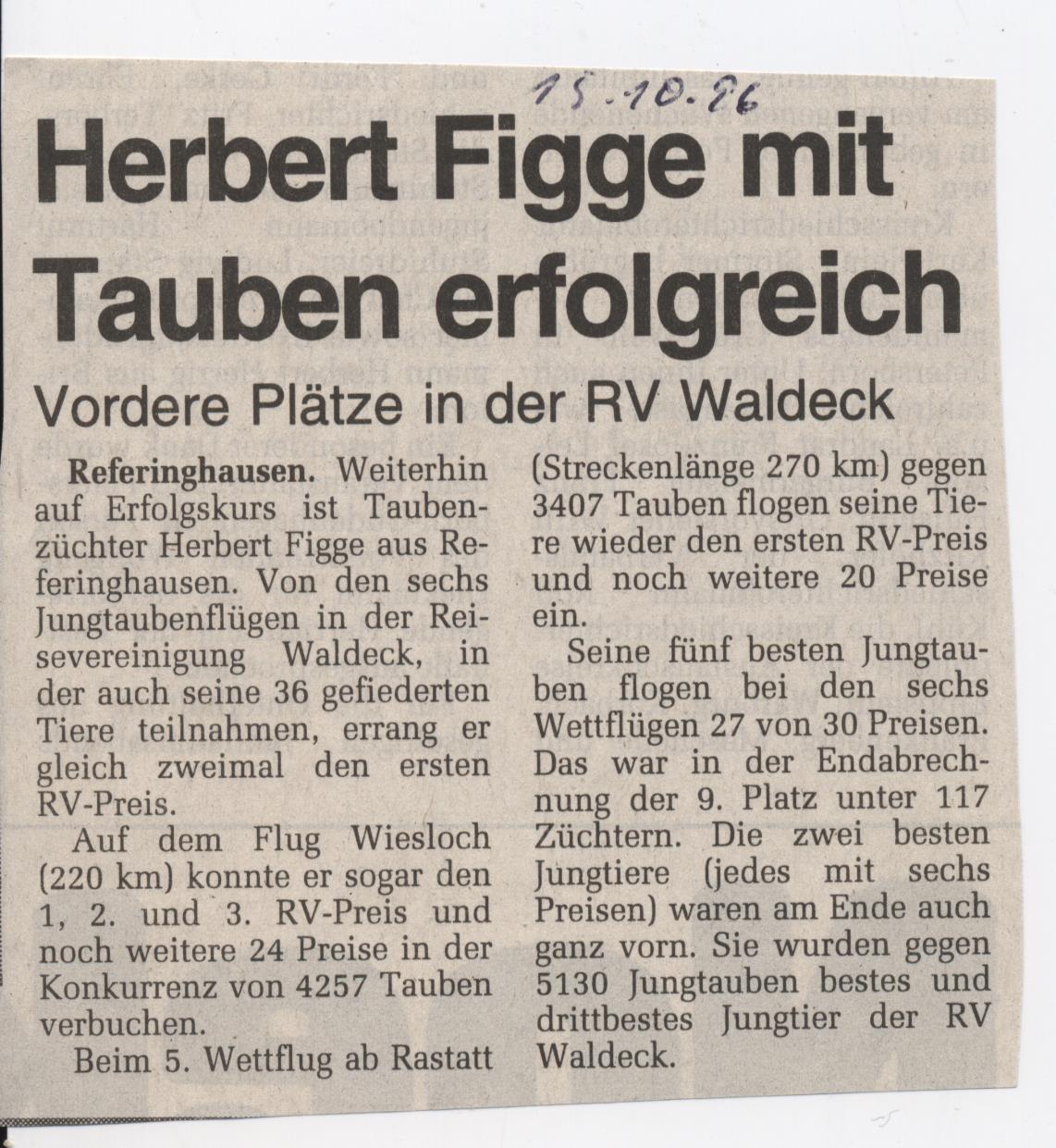 Herbert Figge Tauben