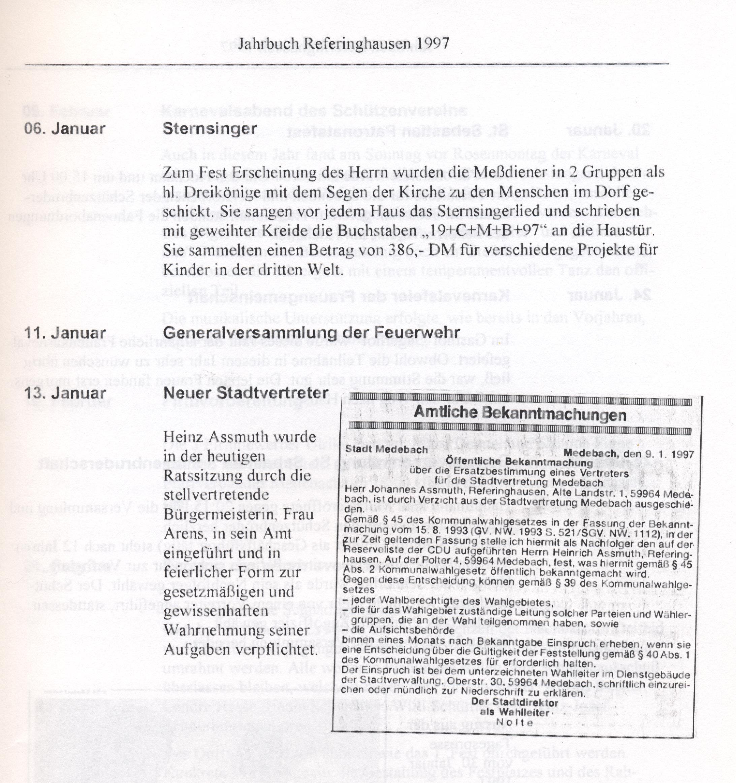 Jahrbuch von 1997