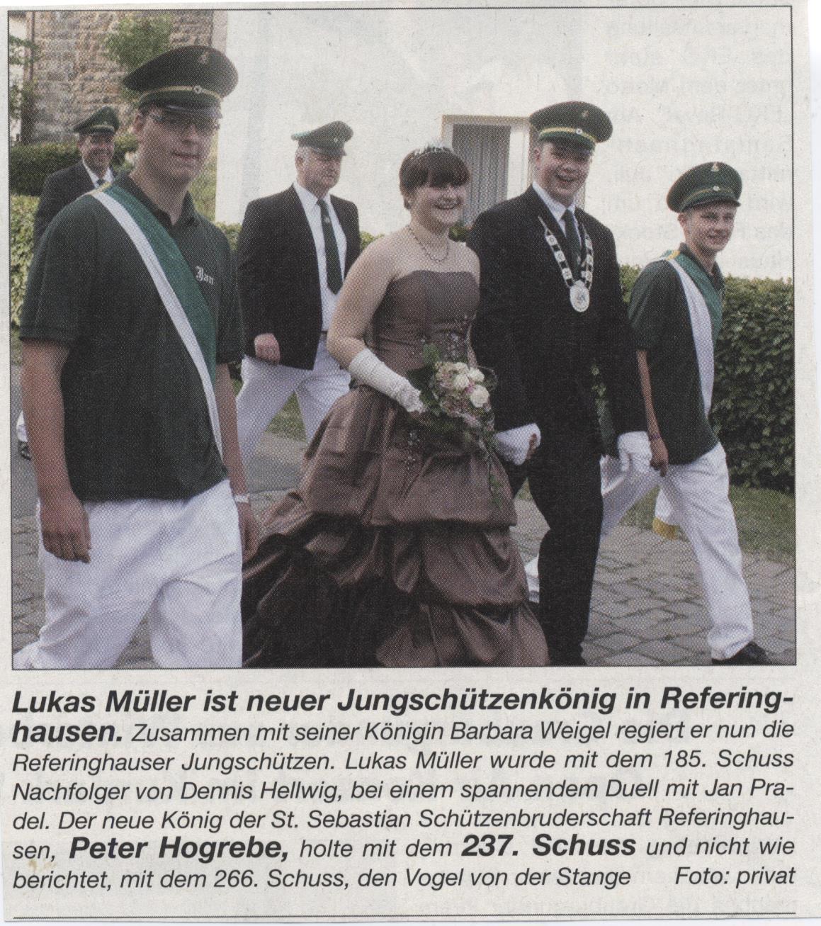 Jungschützenkönigspaar Lukas Müller und Barbara Weigel
