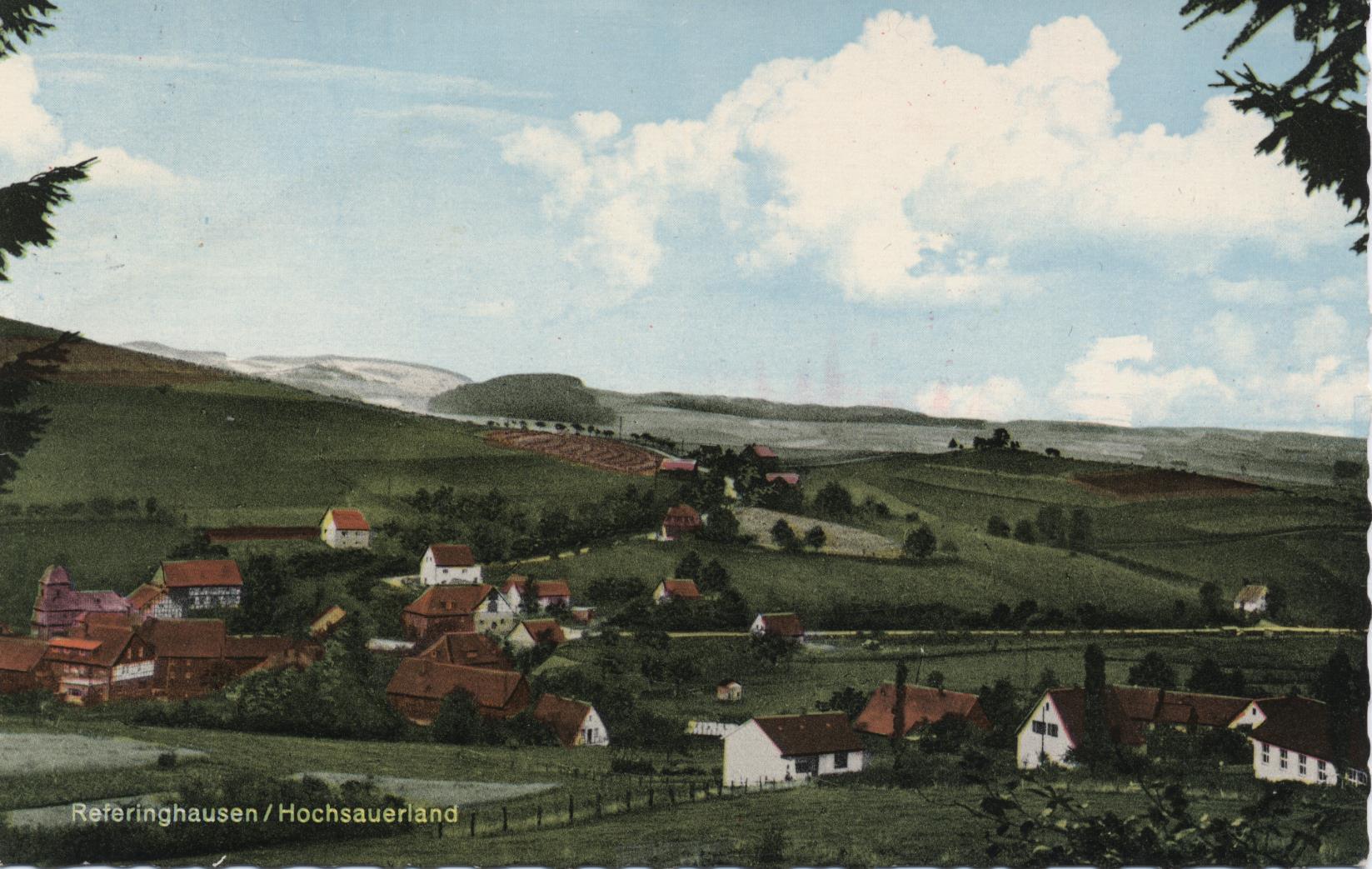 Postkarte Dorfansicht 7