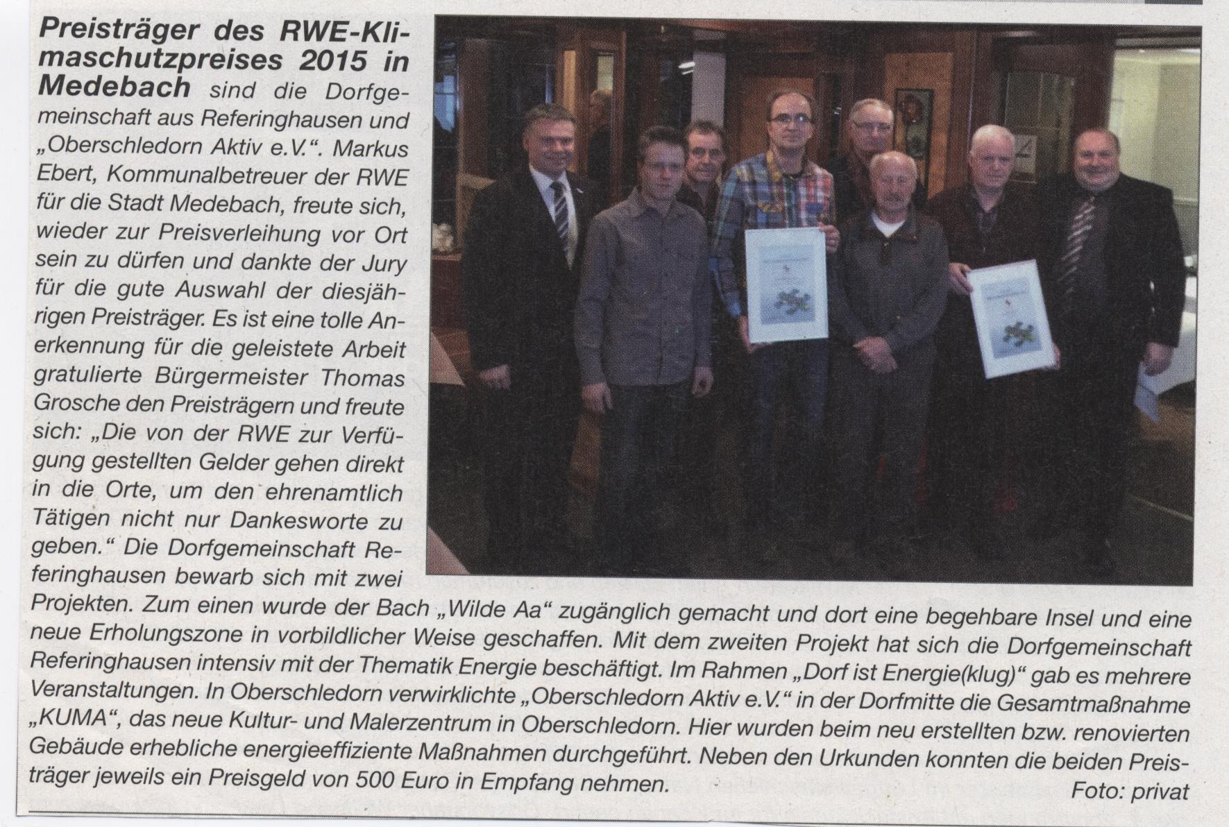 RWE-Klimaschutz Preis