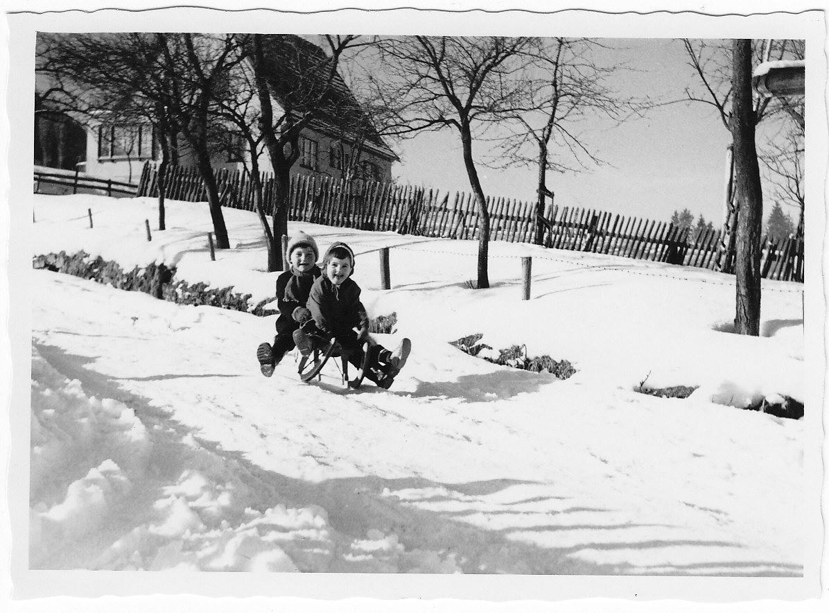 Schlittenfahrt 1961