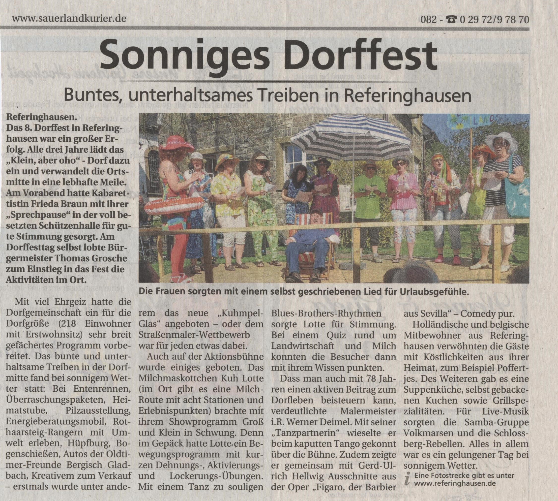 Sonniges Dorffest
