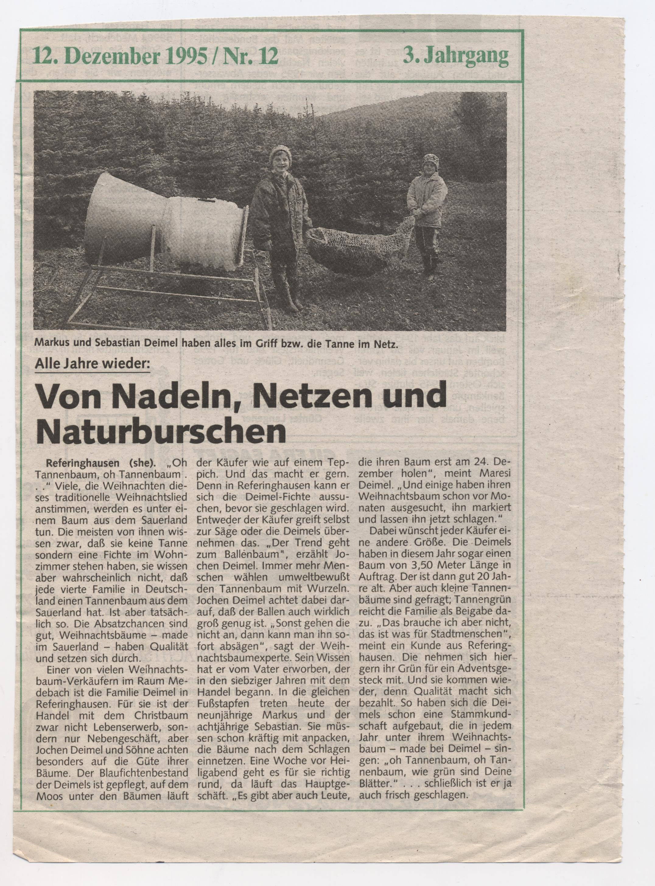Von Nadeln, Netzen und Naturburschen